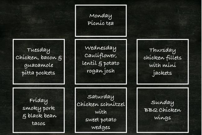 Food planner week 8