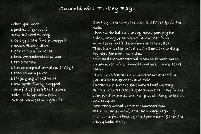 Gnocchi with Turkey Ragu