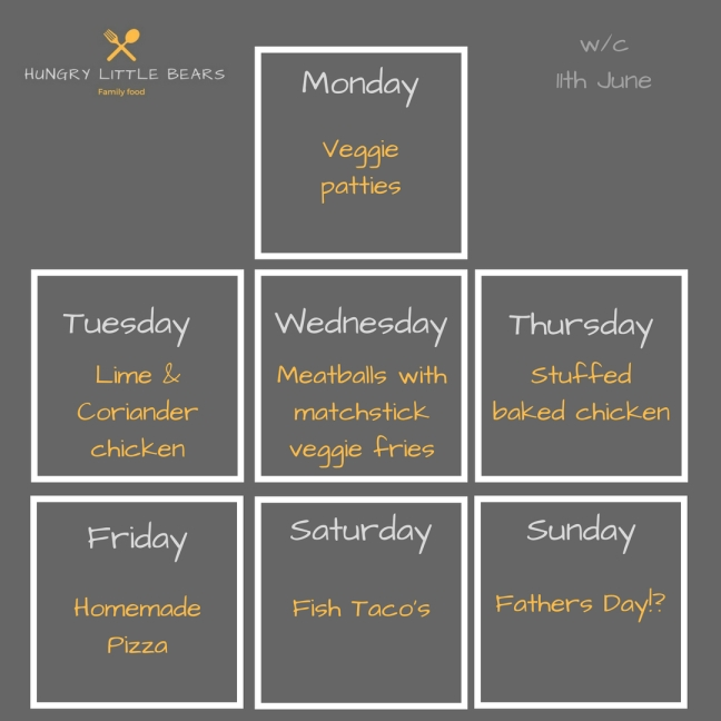 Weekly plan insta 11th June