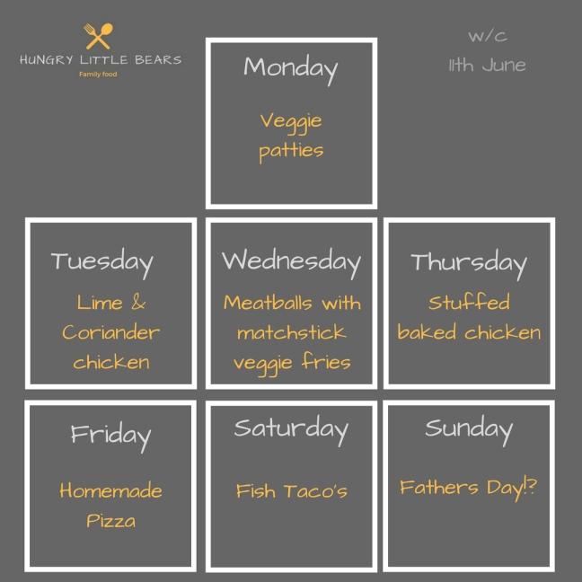 Weekly plan insta 11th June